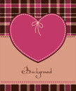 Free Heart In Stitched Textile Style Stock Photography - 23570322