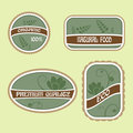 Free Set Of Eco Natural Labels Stock Image - 23573351