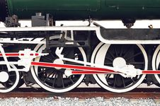 Free Steam Locomotive Wheel Royalty Free Stock Photos - 23570928