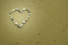 Free Heart Made Of Small Stones Stock Photography - 23576142