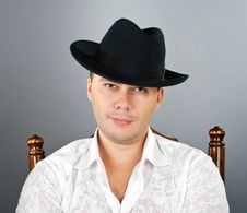 Free Portrait Of Young Man In A Hat Stock Image - 23577181