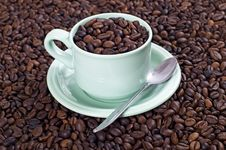 Free A Cup Of Coffee Bean Stock Images - 23578284