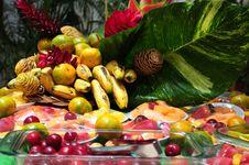 Free Tropical Fruits. Royalty Free Stock Photos - 23578348