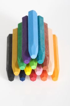 Free Group Of Crayons Royalty Free Stock Photos - 23578448