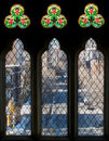 Free Three Tall Windows And Stained Glass Stock Images - 23584084