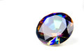 Free Mystic Topaz Faceted Gemstone Isolated On White Royalty Free Stock Image - 23586946