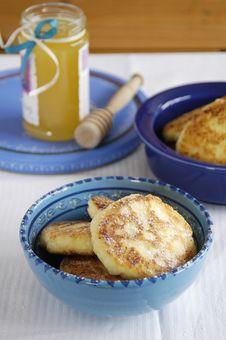 Cheese Pancakes Stock Photo