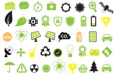 Green Energy Icons Royalty Free Stock Images