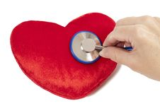 Free Red Heart With Blue Stethoscope Royalty Free Stock Photos - 23584348