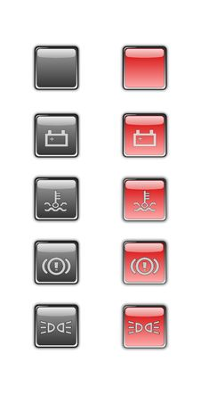 Free Car Dashboard Symbols Royalty Free Stock Photo - 23584415