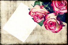 Free Roses On Grunge Background Stock Image - 23587101