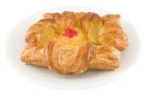 Peach Danish Pie Stock Photography