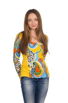 Free Beautiful Girl  With Long Fair Hair Stock Photography - 23589292