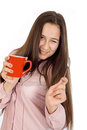 Free Woman Holding A Cup Of Coffee Stock Image - 23591191