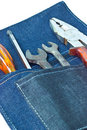 Free Tools In His Bag. Stock Photo - 23595390