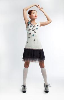 Free Sensual Redheadr Female In Stylish Dress Posing Stock Photo - 23593820