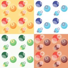 Free Seamless Floral Background Royalty Free Stock Image - 23594036