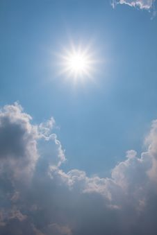 Free Blue Sky With Clouds And Sun Stock Photos - 23594113