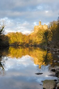 Free Warkworth Castle Reflected Royalty Free Stock Photos - 23595528