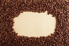 Free Coffee Frame On Paper Stock Photo - 23597050