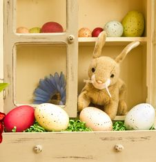 Free Easter Bunny With Eggs Stock Photography - 23597272