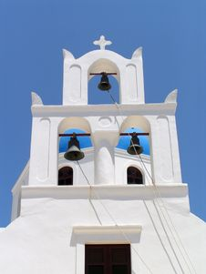 Free Santorini Church Bells Stock Image - 23599201