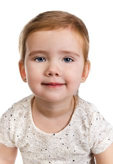 Free Portrait Of Beautiful Little Girl Stock Image - 23599451
