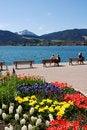 Free Relaxing At A Mountain Lake Stock Image - 2360601