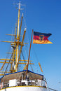 Free German Flag On Sailing Ship Stock Images - 2361114