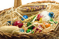 Free Easter Eggs In Straw Nest Stock Photo - 2361300