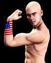 Free Muscle Man US 2 Stock Image - 2366961