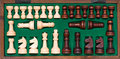 Free Chess Pieces In Wooden Box Royalty Free Stock Photos - 2369398