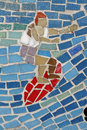 Free Mosaic Surfer, Background Royalty Free Stock Images - 2369959