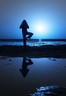Free Night Yoga Stock Photos - 2360933