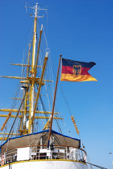Free German Flag On Sailing Ship Stock Images - 2361114