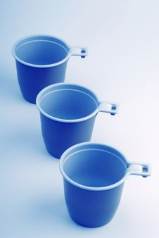 Free Three Plastic Glasses Stock Photography - 2361582
