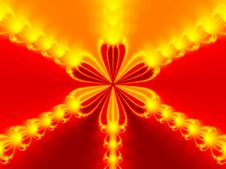 Free Abstract Red Flower Stock Image - 2361721