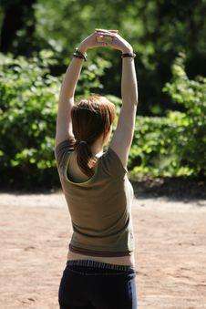 Free Woman Practises Thaj Ti Stock Images - 2362884