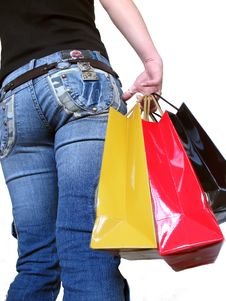 Girl Shopping Royalty Free Stock Photography