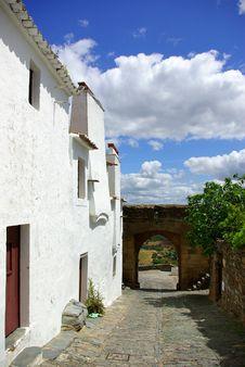 Free Street Of Monsaraz Old Village Royalty Free Stock Photos - 2364118