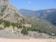 Free Greece, Delphi, Amphitheatre Royalty Free Stock Photo - 2364935