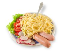 Free Spaghetti With Sausages Stock Photo - 2365630