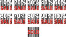Free Sale Label And Pecentual Sale. Stock Image - 2365701