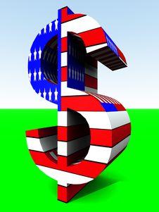 Free US Dollar 7 Royalty Free Stock Images - 2366679