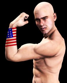 Free Muscle Man US 2 Stock Image - 2366961
