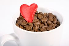 Free Coffeecup With Heart Royalty Free Stock Photo - 2367715