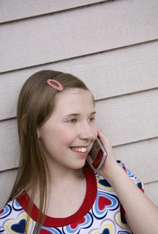 Free Chatting On Her Cell Royalty Free Stock Photo - 2368295