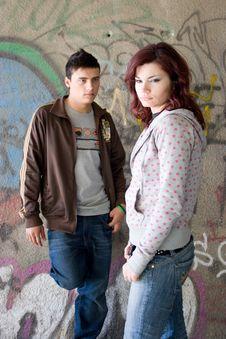 Free Underground Couple Royalty Free Stock Photography - 2368487