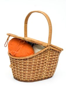 Free Isolated Retro Basket Stock Image - 2368941