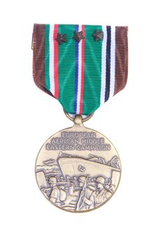 Free War Medal Isolated On White Royalty Free Stock Photography - 2369897